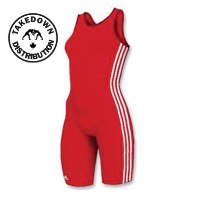 Adidas Womens 3 Stripe Singlet Red - Takedown Distribution