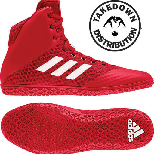 Adidas Mat Wizard 4   Red / White - Takedown Distribution