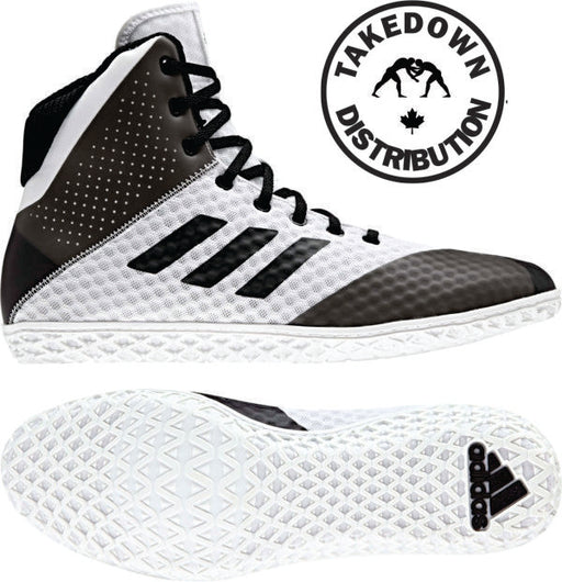 Adidas Mat Wizard 4   White / Black - Takedown Distribution