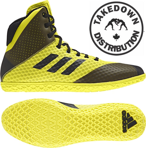 Adidas Mat Wizard 4  YOUTH  Yellow/ Black - Takedown Distribution