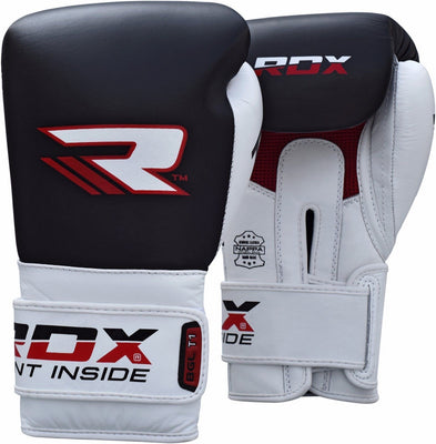 RDX Gloves Boxing Leather BGLT1 Black 10oz - Takedown Distribution