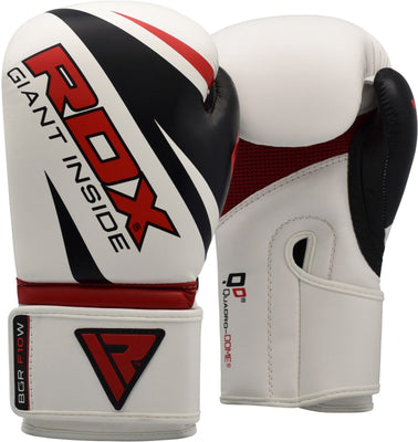 RDX Gloves Boxing Maya Leather  12oz  BGRF10W - Takedown Distribution