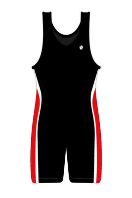 Clinch Gear Singlet Wrestling  Youth Performance Black Red White - Takedown Distribution