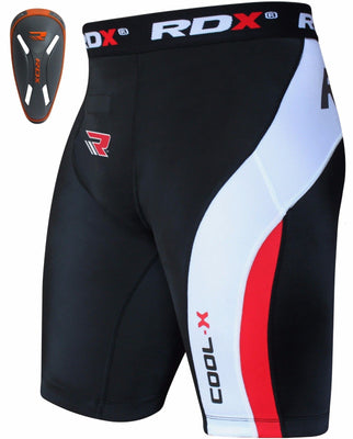 RDX Compression Shorts Knee Length with Orange CUP - CSH-MOC - Takedown Distribution