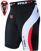 RDX Compression Shorts Knee Length with GEL CUP - CSH-MPC - Takedown Distribution