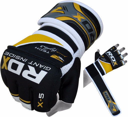 RDX Gloves Boxing Inner Gel GGN-X5-YELLOW - Takedown Distribution