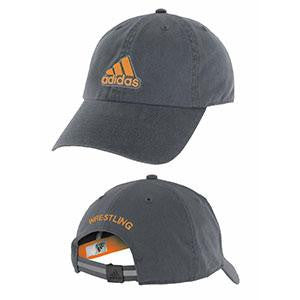 Adidas Apparel Hat Ultimate Wrestling Gray-Orange Black - Takedown Distribution