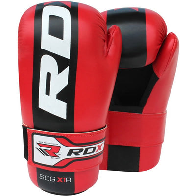 RDX Gloves Boxing Semi Contact Red - Takedown Distribution