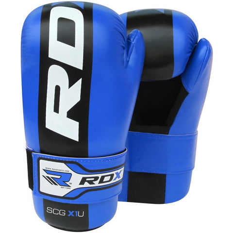 RDX Gloves Boxing Semi Contact Blue