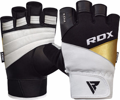 RDX Gloves Weightlifting Leather WGLS11WB - Takedown Distribution