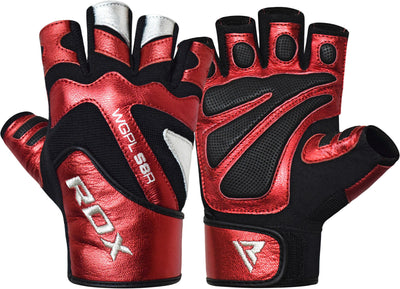 RDX Gloves Weightlifting Leather WGPLS8R - Takedown Distribution