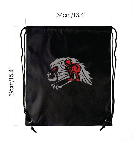 Strathcona Wrestling Drawstring Backpack