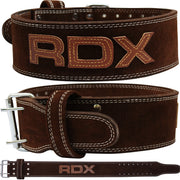 "RDX Belt Weightlifting Leather 4"" WBL-4PN - Takedown Distribution"