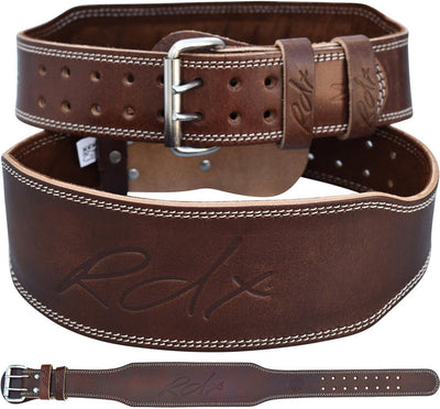 RDX Belt Weightlifting Leather BROWN 4