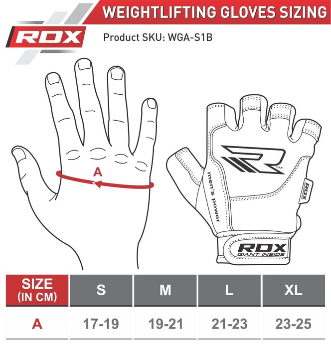 RDX Gloves Weightlifting Gel WGLX5 - Takedown Distribution