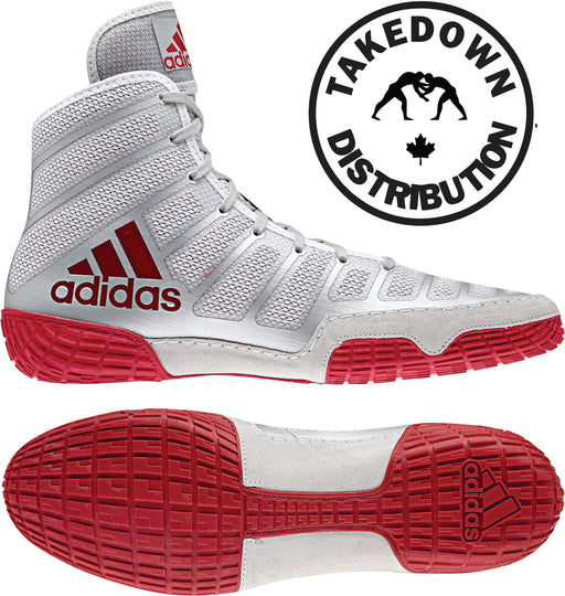 Adidas Shoe Wrestling aDiZero Varner  Red-Silver - Takedown Distribution