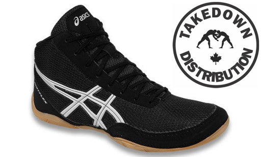 Asics Discontinued Shoe Wrestling Matflex 5 Kids Youth Black-Silver - Takedown Distribution