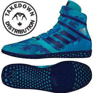 on sale 53d6e 7f8fe Adidas Shoe Wrestling Flying Impact Camo Turquoise - Takedown Distribution