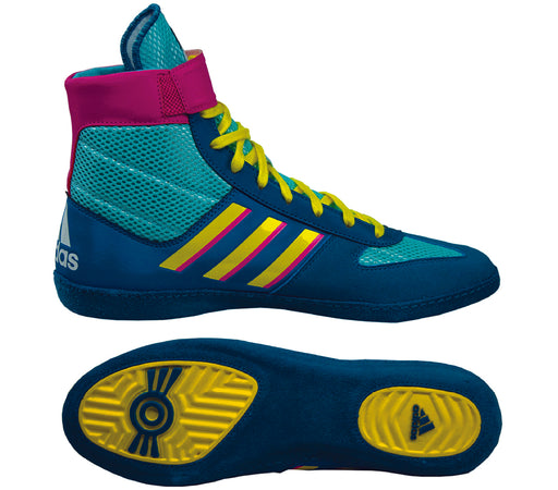 Adidas Shoe Wrestling Combat Speed 5 Teal - Takedown Distribution