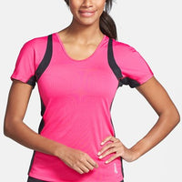 Asics Apparel Top Womens ABBY Short Sleeve Tee Magenta - Takedown Distribution