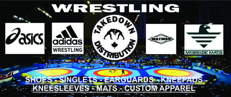 Takedown Distribution Wresstling products in Canada -Adidas Wrestling - Asics Wrestling  -Matman Wrestling
