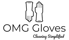 OMG Gloves Logo - Cleaning Gloves for Dishwashing and Household Cleaning