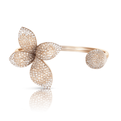 18k Rose Gold Giardini Segreti Bracelet with White and Champagne Diamonds