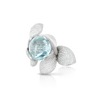 18k White Gold Giardini Segreti Atelier Ring with Aquamarine and Diamonds