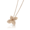 18k Rose Gold Petit Garden Necklace with White and Champagne Diamonds