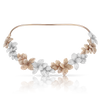18k White and Rose Gold Stelle in Fiore Necklace with White and Champagne Diamonds