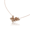 18k Rose Gold Stelle in Fiore Necklace with White and Champagne Diamonds