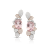 18k White and Rose Gold Giardini Vento Atelier Earrings with Morganite and Diamonds
