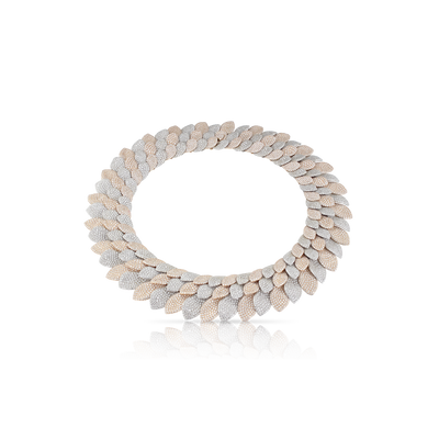 18k White and Rose Gold Giardini Vento Atelier Necklace with Diamonds