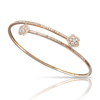 NEW 18k Rose Gold Figlia dei Fiori Bracelet with White and Champagne Diamonds