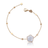 18k Rose Gold Bon Ton Bracelet with Light Blue Chalcedony