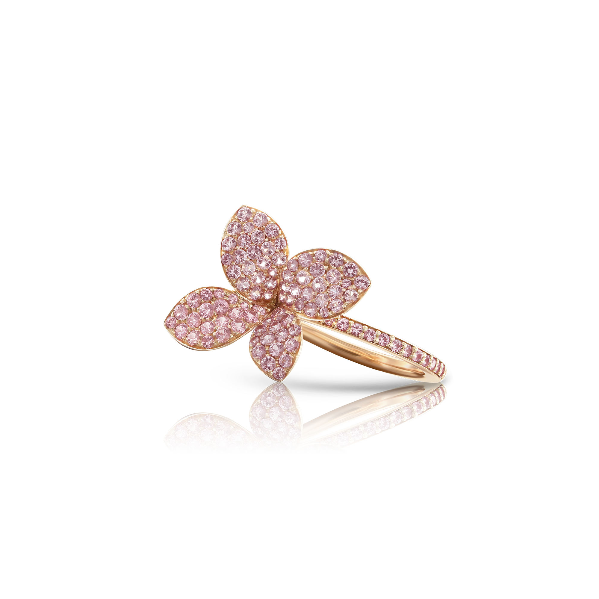 NEW 18k Rose Gold Petit Garden Ring with Pink Sapphires