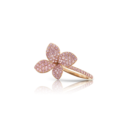 18k Rose Gold Petit Garden Ring with Pink Sapphires