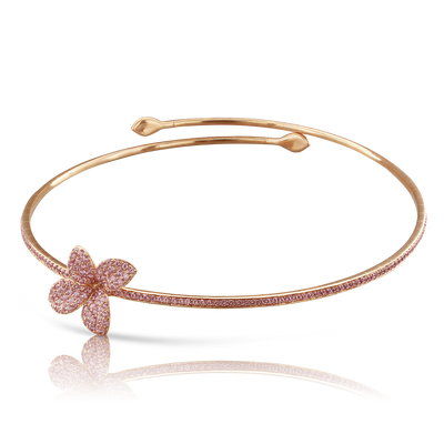 18k Rose Gold Petit Garden Necklace with Pink Sapphires