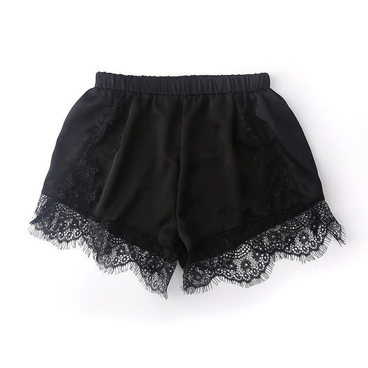 HEYFAIR Casual Shorts High Waist Lace Short Pants