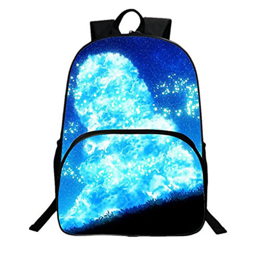 HEYFAIR Kid's Galaxy Digital Print Polyester Backpack Students School Bags Boys Girls Travel Daypack