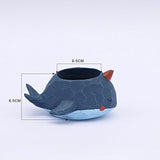 HEYFAIR Cute Whale Small Cactus Succulent Planter Pot Container Gardens