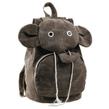 HEYFAIR Cute Elephant Canvas Backpack