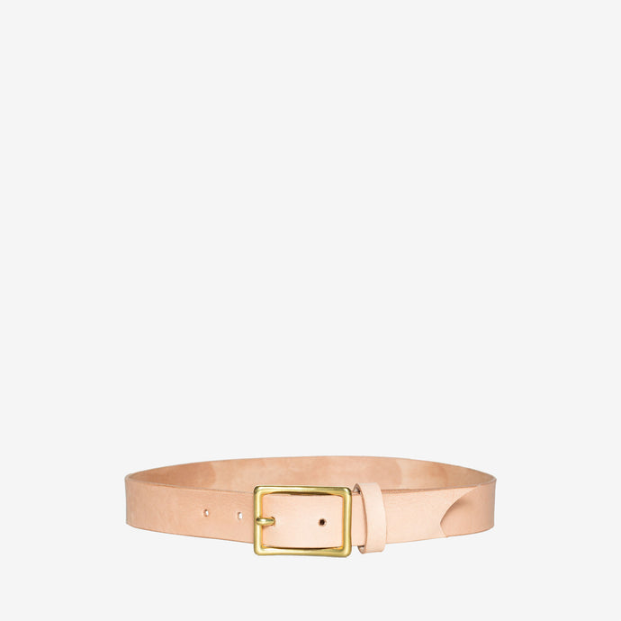 Women's Skinny Waist Belt in Natural