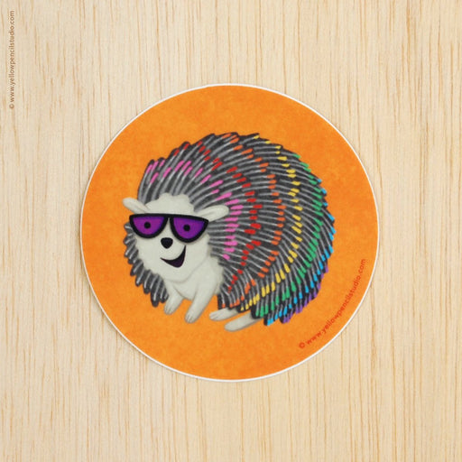 Rainbow Hedgehog Sticker - Yellow Pencil Studio