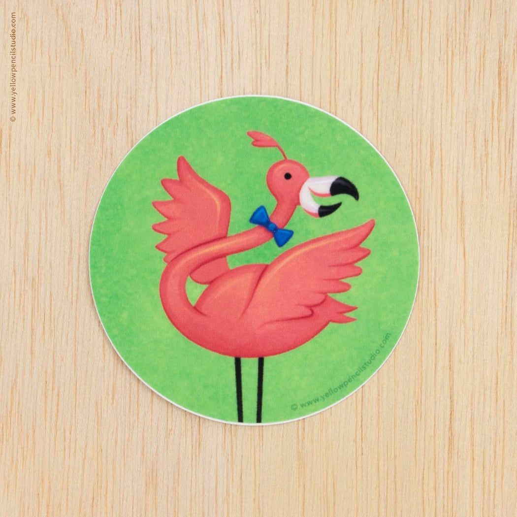 Flamingo Sticker - Yellow Pencil Studio