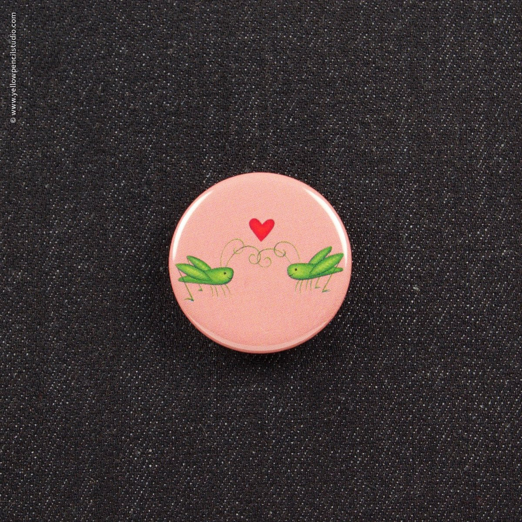 Crickets in Love Button - Yellow Pencil Studio