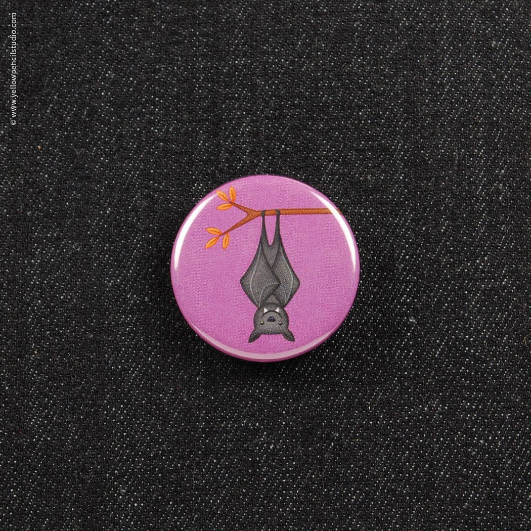 Bat Button - Yellow Pencil Studio