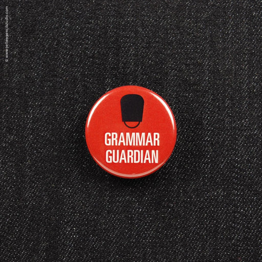 Grammar Guardian Button - Yellow Pencil Studio