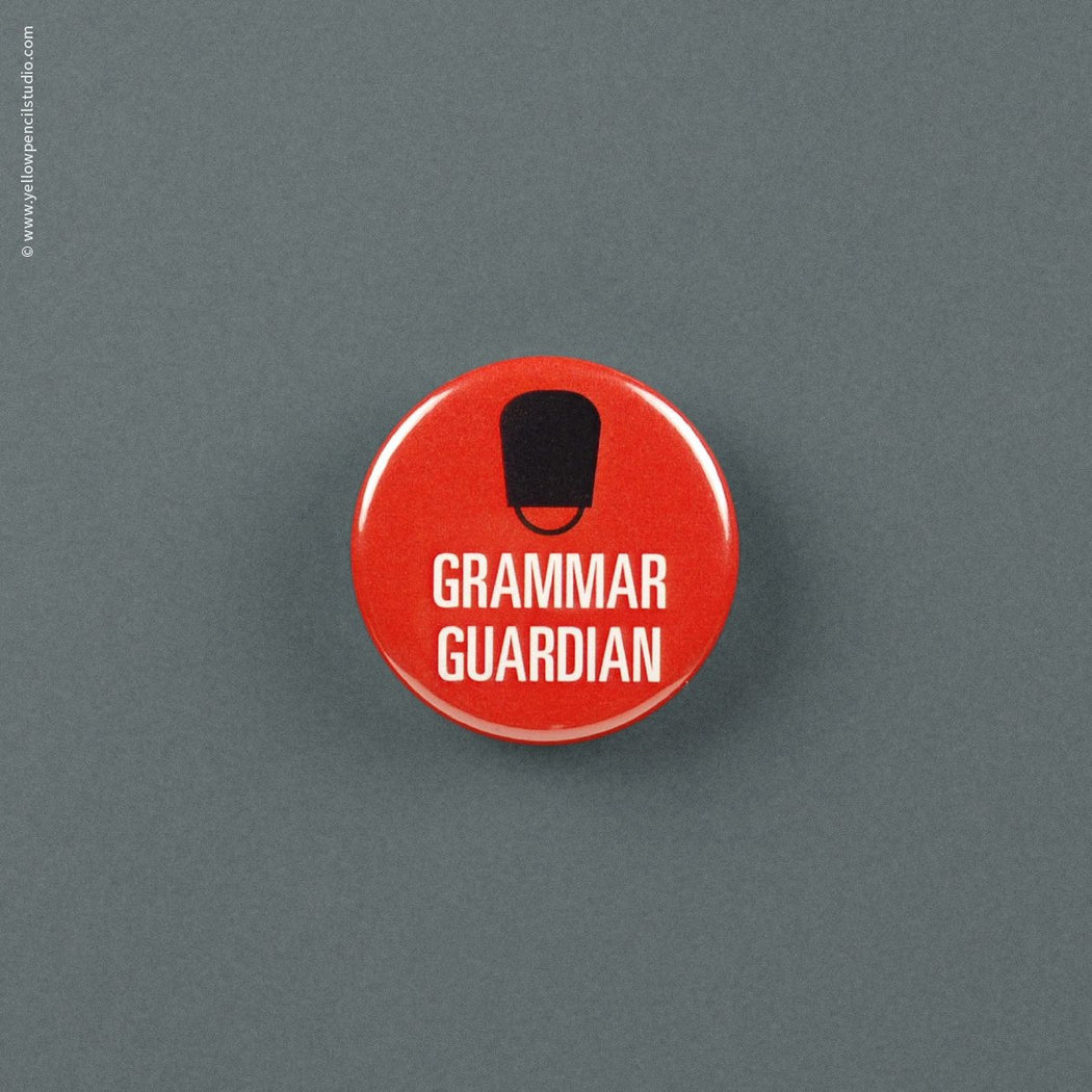 Grammar Guardian Magnet - Yellow Pencil Studio