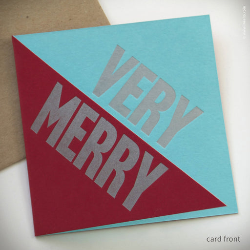 """Very Merry"" Holiday Card (#152) Greeting Card - Inkello Letterpress"